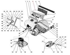 Привод вентелятора и отопителя кабины автомобиля Урал 4320-31